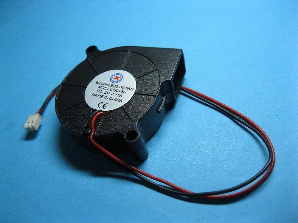 10 Stücke Bürstenlosen Dc Gebläse Fan 5 V 5015 S 50x50x15mm 2pin Sleeve-lager