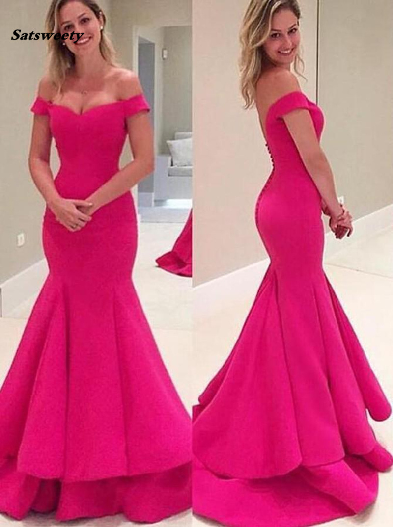 Mermaid   Bridesmaid     Dresses   Satin Women Formal Party   Dress   High Quality Sweetheart Prom   Dresses   With Sweep Train