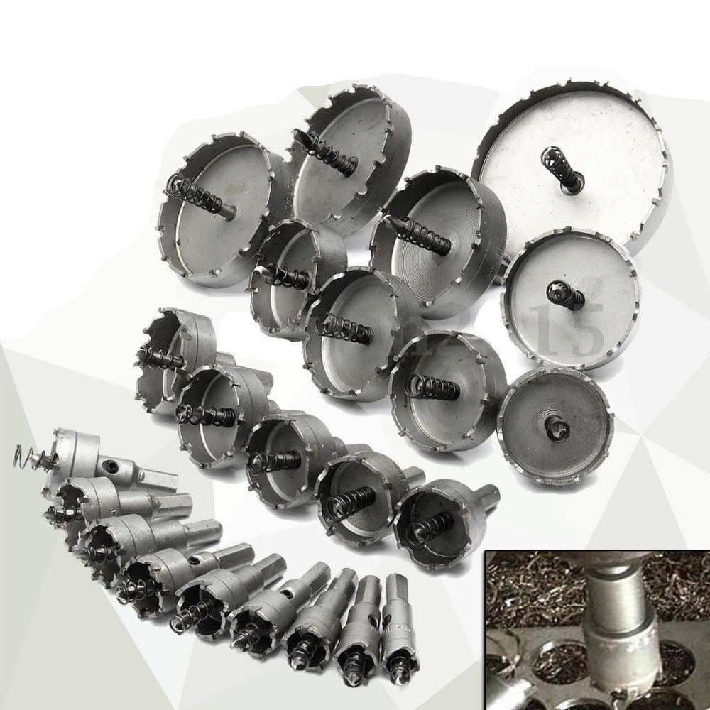 Details about Carbide Tip TCT Drill Bit Hole Saw Stainless Steel Metal Alloy 16-65mm 6pcs lot stainless steel tct drill bit set carbide tip drill bit hole saw cutter for metal alloy drilling tool