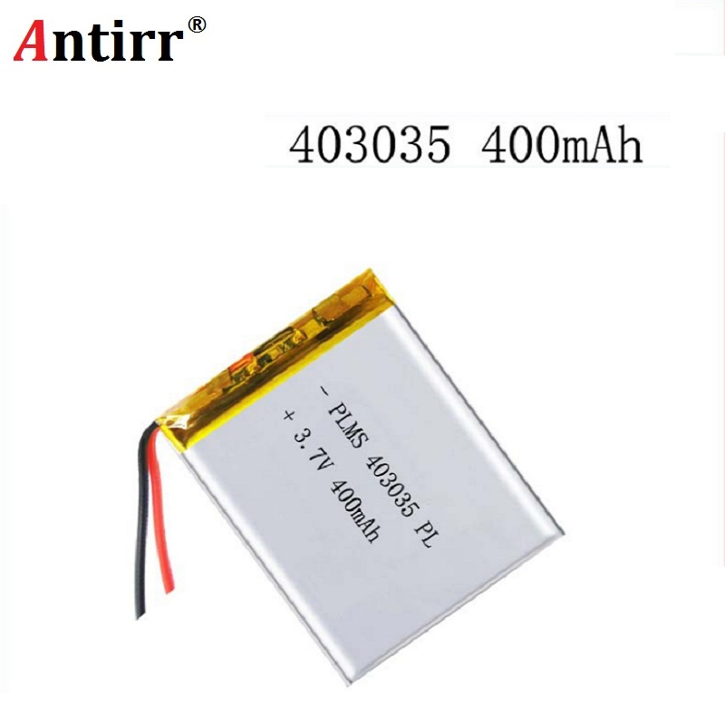 <font><b>3.7V</b></font> 400mAh <font><b>403035</b></font> Lithium Polymer Li-Po li ion Rechargeable Battery cells For Mp3 MP4 MP5 GPS PSP mobile bluetooth speaker image