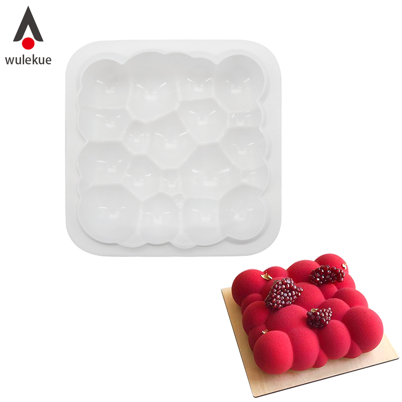 Wulekue Baking White Silicone 3D Cloud Shaped Mousse Cake Mould Dessert Chocolate Decorating Tools