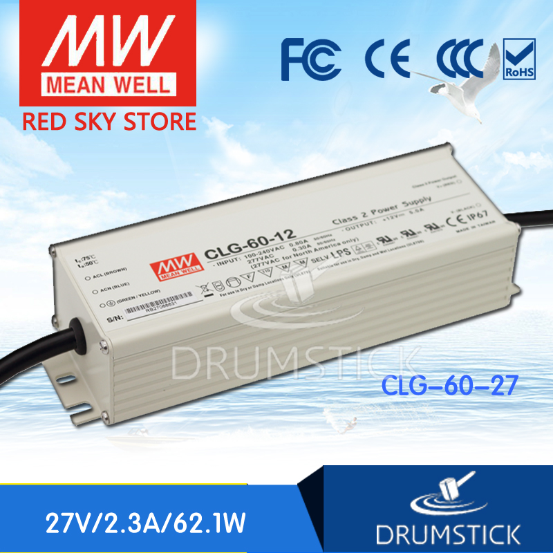 Advantages MEAN WELL CLG-60-27 27V 2.3A meanwell CLG-60 27V 62.1W Single Output LED Power Supply mean well clg 150 12b 12v 11a meanwell clg 150 12v 132w single output led switching power supply [real6]