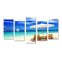 Holiday Seascape Artwork Photograph Printing Canvas Beach Canvas Wall Paintings For Living Room Scenery Photo Canvas Printing