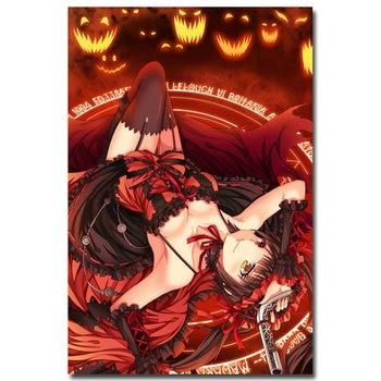Аниме Плакат гобелен шелковый Куруми Токисаки Рандеву с жизнью в ассортименте