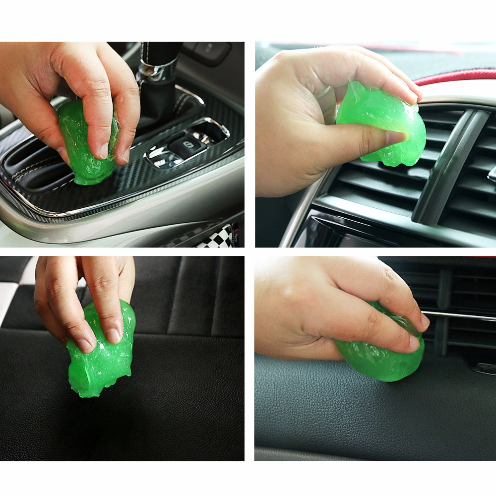 Multifunction Soft Car Sticky Clean Glue Gum Gel Cleaning Auto Interior Outlet Keyboard Dust Cleaner Microfiber Sponge Gel