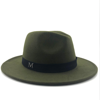 Wide Brim Autumn Fashion Top Jazz Cap