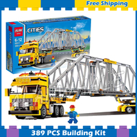 389pcs City Heavy Loader parallel Truck 02041 Model Building Blocks Children Assemble Gifts Sets Collection Compatible With Lego