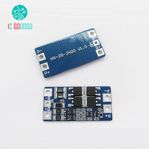 Image 1 - 2S 10A Balance Function 7.4V 8.4V Li ion 18650 Battery Protection Board DIY BMS PCM PCB Lipo Lithium Cell Pack Charge Module