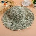 Новый Г-Жа летом соломенная шляпа ручной крючком шляпа УФ Даян Мао пляж шляпа леди
