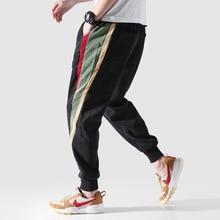 купить Fashion Streetwear Joggers Pants Men Big Size M-5XL Japanese Style Casual Corduroy Pants Stripe Designer Hip Hop Trousers по цене 1646.65 рублей