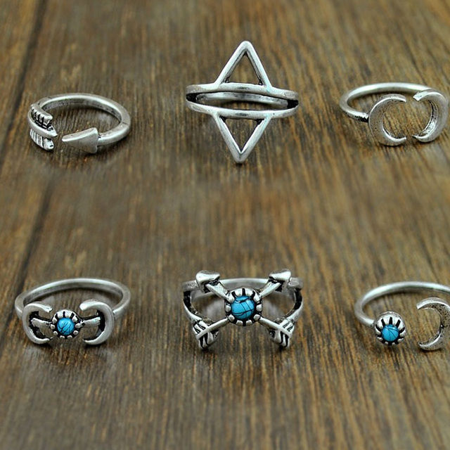 Six Harmonized Rings Complect Rising Moon