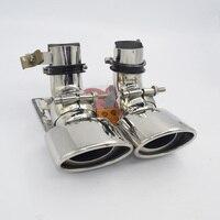 Car styling! W211 Rear Exhaust Tips single tip Muffler Pipe For Mercedes Benz W211 E Class E200 E260 E240 E280 E300 E350