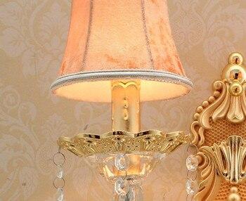 Kryształowe ściany Lampa Do łazienki Ampshade Nowoczesny Kinkiet światła Luksusowe Kinkiet światła Piękne ściany światła W Pomieszczeniach, Do ściany