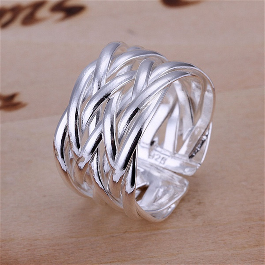 High quality silver plated rings New Charm fashion Hot sell Mesh open girl gift jewelry Lowest Factory Price R022