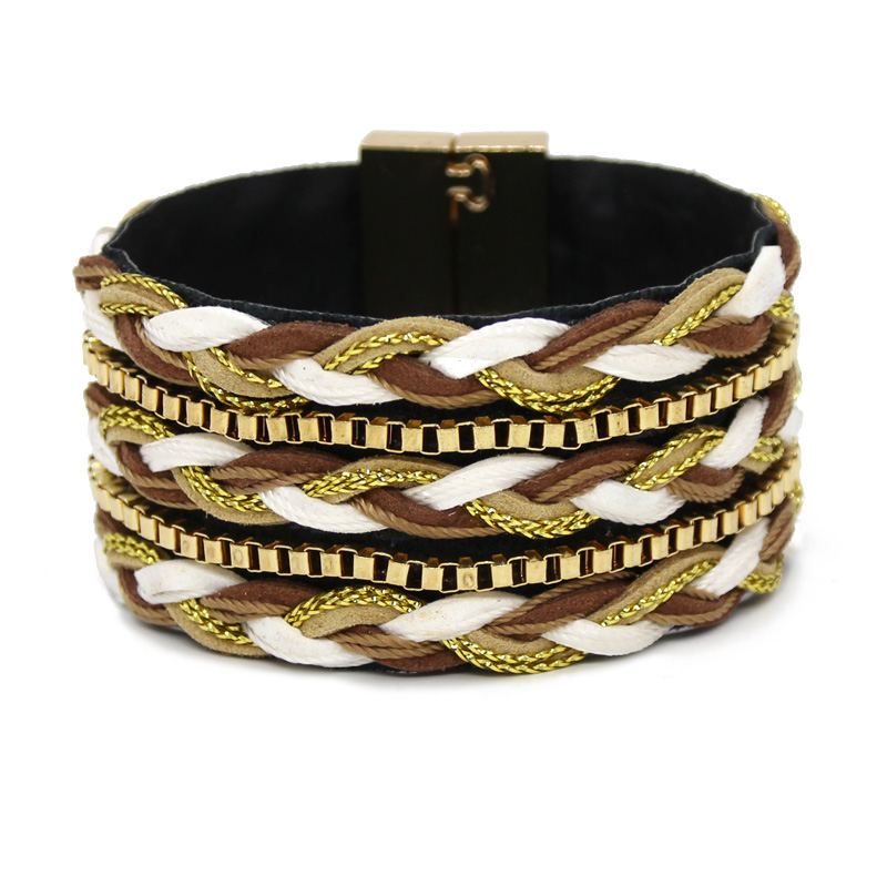 VONNOR Jewelry Women Bracelet Men Multilayer Weave Leather Bangles Bracelets Accessories