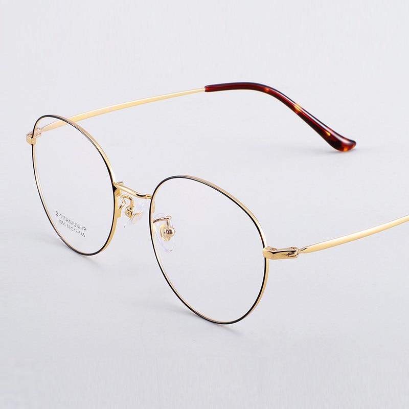 width-138 Men Myopia Glasses Frame Women Eyewear Watch Computer Phone Round Can Be Equipped Anti-Blu-Ray