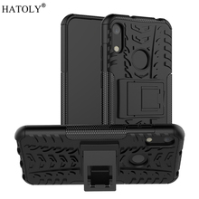 Cover Huawei Y6 2019 Case Heavy Duty Armor Hard Rubber Silicone PC Back Phone for