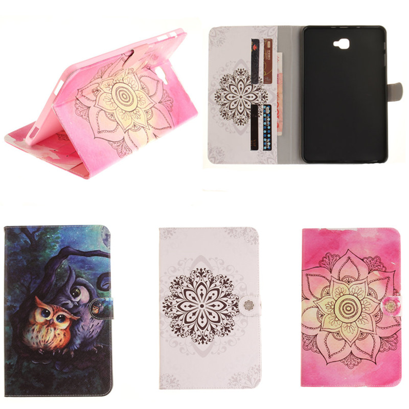 TX Flip PU Leather Cover For Samsung Galaxy Tab A 10.1 A6 10.1'' T585 T580 SM-T580 T585C Tablet case shell skin with Card Holder ultra thin smart flip pu leather cover for lenovo tab 2 a10 30 70f x30f x30m 10 1 tablet case screen protector stylus pen