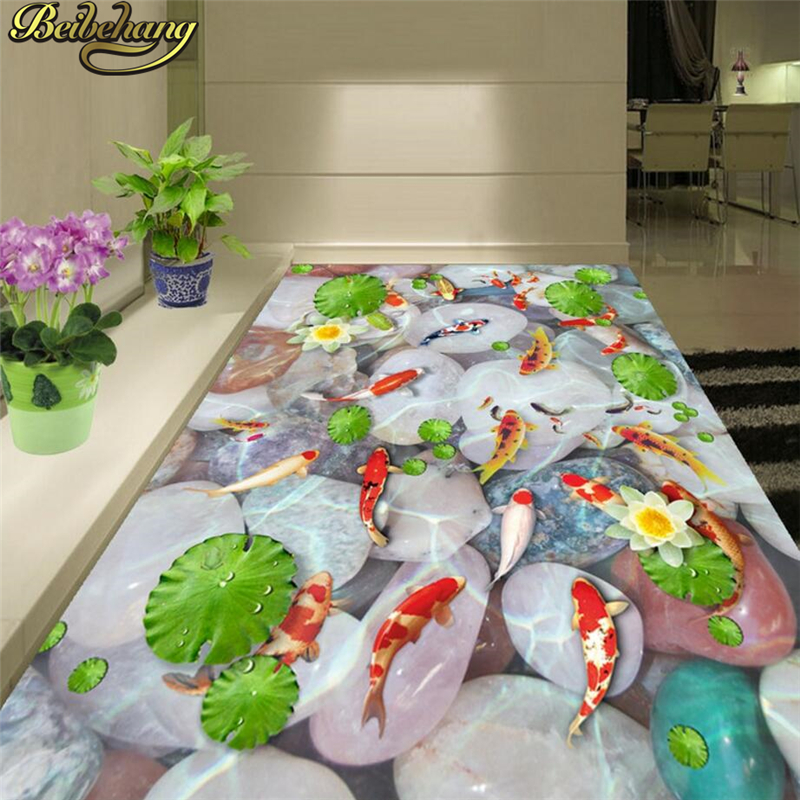 beibehang Custom Mural Wallpaper Self-Adhesive Floor Paintings For Living Room Bathroom Papel De Parede 3D flooring Wall paper  custom 3d floor painting wallpaper stone steps sunshine pvc self adhesive living room bedroom bathroom floor sticker wall mural