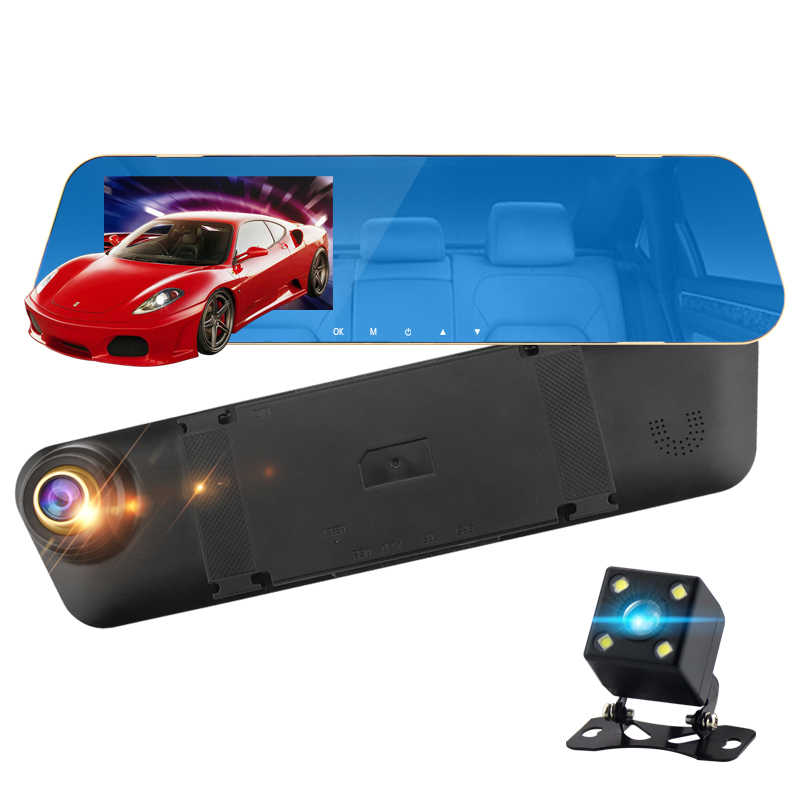 "Mini auto camera auto dvr 4.3 ""full hd 1080 P Video Registrator Parking Recorder G-sensor Dash Cam AUTO St auto video recorder spiegel"