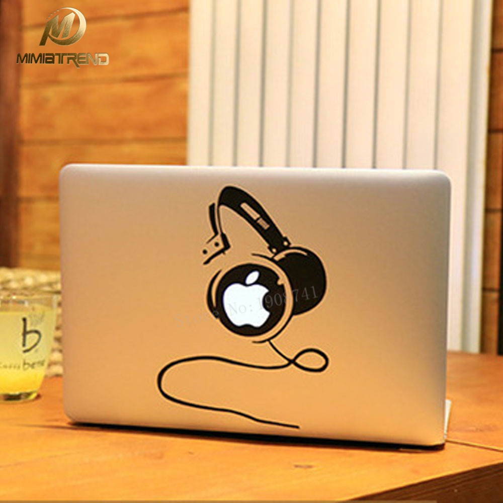 Mimiatrend Cool DJ Laptop Decal Sticker For Apple MacBook Air Pro Retina 11 13 15 Cover Sticker Mac Case Full Cover Skin Sticker