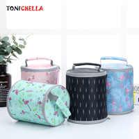 Portable rond thermique sac bébé déjeuner alimentation lait bouteilles plus chaudes en plein air voyage pique-nique sac à main multifonctionnel fourre-tout CL5509