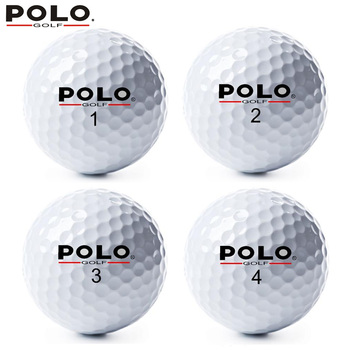 POLO Golf 2 Layer/Two Piece Ball High Quality Sports Double Game Distance Competition Promote Practice Balls 12pcs/lot