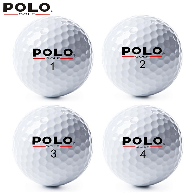 POLO Golf 2 Layer/Two Piece Ball High Quality Sports Double Game Ball Distance Competition Promote Golf Practice Balls 12pcs/lot