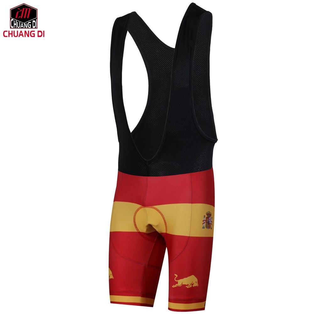 ZM испанский национальный флаг для верховой езды нагрудник шорты 3D с подкладкой из ткани coolmax гель дышащий Велоспорт комбинезон дышащий MTB ве