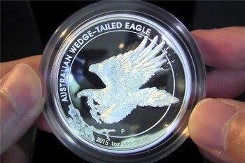 Free shipping 30pcs/lot ,2015 Australian $1 Wedge Tailed Eagle 1oz .999 Silver Bullion Coin