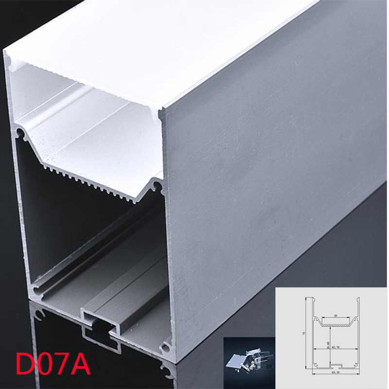 D07a 10*200cm U Shape Aluminum Channel Profile With Cover, End Caps And Hanging Wire For Led Bar Pendant Lights Good Reputation Over The World