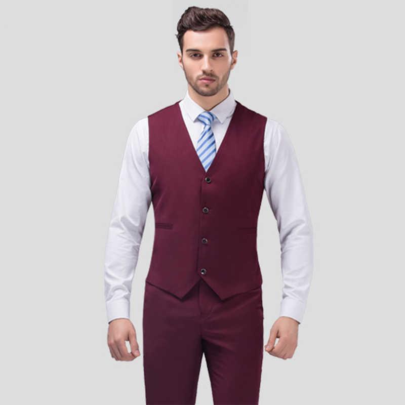 02539474b2d26 Men Suit Slim Fit Men Purple Suits Plus Size Mens Wedding Suits Business  Mens Formal Wear Mens 3 Piece Suits (Jacket+Vest+Pants)