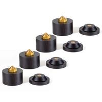 43mm Ebony Adjustable Speaker Spike Pad Loudspeaker Box Amplifier Shockproof Stand Isolation Feet Base Pad #1