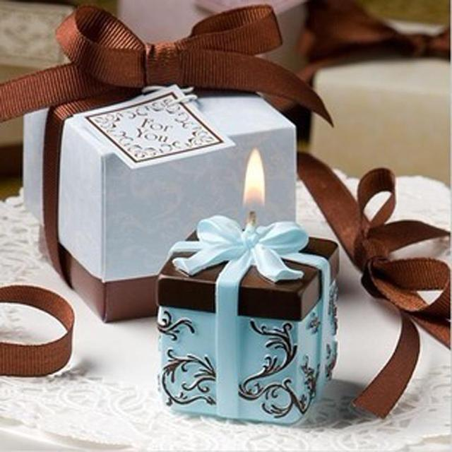 Gift Box Candle Children Happy Party Christmas Eve Valentine Birthday Candles Gifts Favors Crafts Wedding