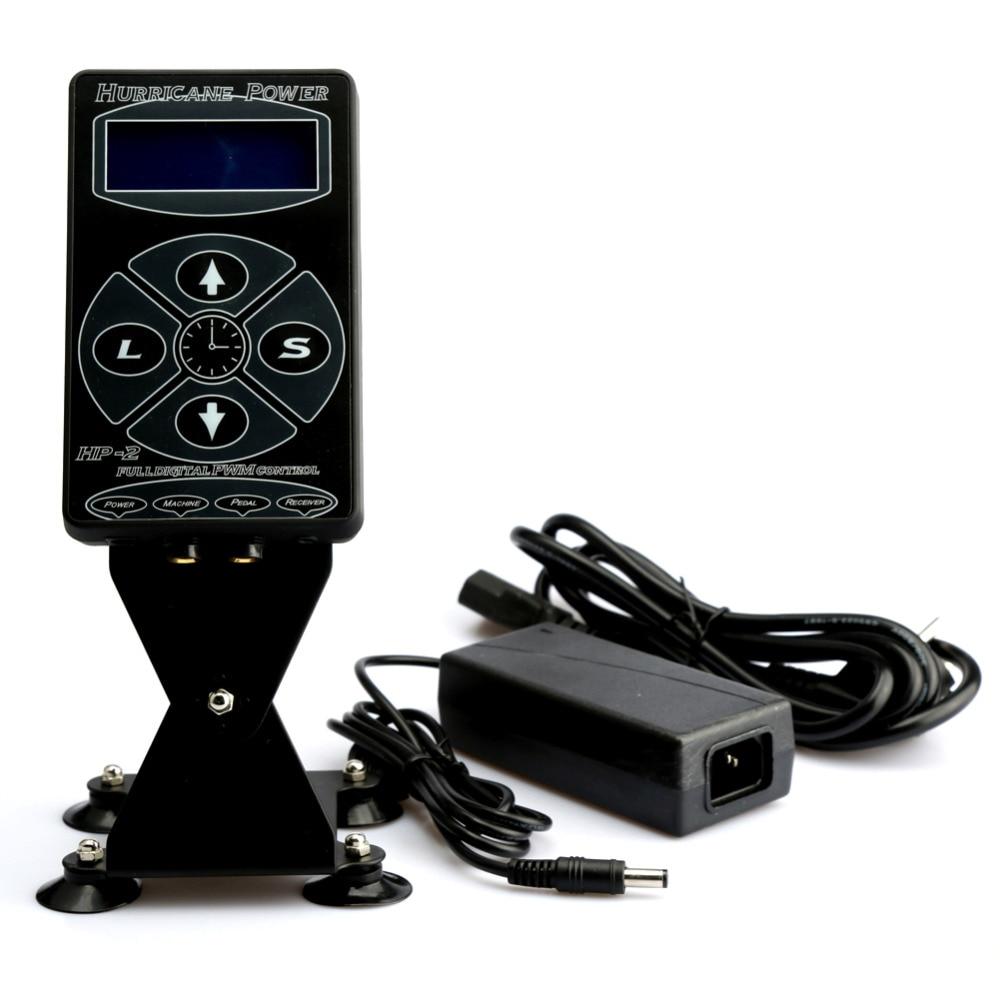 цена на Professional Tattoo Power Supply Hurricane HP-2 Powe Supply Digital Dual LCD Display Tattoo Power Supply Machines Free Shipping