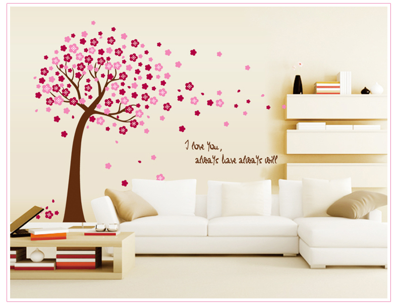 PUTIH dan TONGKAT Removable Wall Sticker Vinyl Mural Decal Art Jepang - Dekorasi rumah - Foto 3