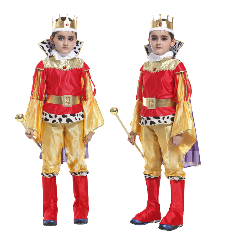 The King Prince with crown Halloween for Children Boys Cosplay Costumes Children's Day Boys Fantasia European royalty clothing