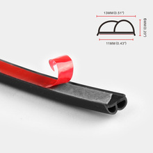 B-shaped Door Seals Car Waterproof And Sound-proof Strips B Type 2M 3M 4M Rubber Edge Trim