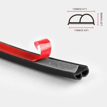 B-shaped Door Seals Car Waterproof And Sound-proof Strips B Type 2M 3M 4M Door Seals Car Rubber Seals Edge Trim