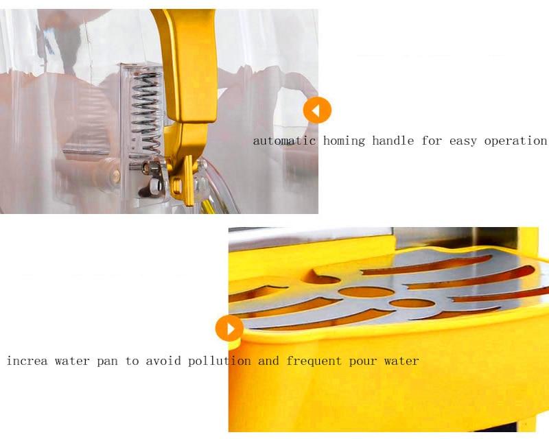 Двойной резервуар Машина Для Оттаивания снега независимый контроль температуры большой емкости Снежная Грязь Машина Блендер Машина Для Оттаивания снега