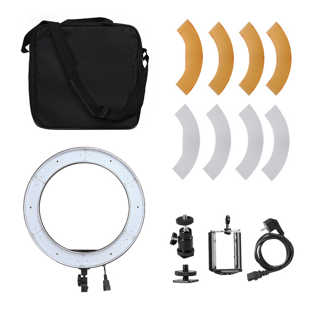 Camera Photo Studio Phone Video 18inch 55W 240PCS LED Ring Light 5500K Photography Dimmable Ring Lamp