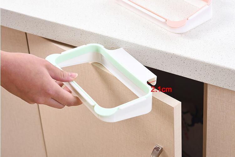 Мешок для мусора, Держатель Шкаф задняя дверь мусора стеллаж для хранения Кухня мусора мусор мешок Кабинета висит мусор стойку Кухня Orgnizer