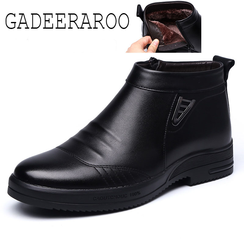 ФОТО GADEERAROO  Brand Ankle boots 2016 Size 37-43 Autumn Leather Male Boots men shoes #611