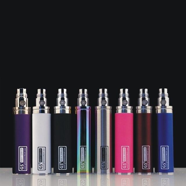 2 pièces d'origine GS eGo II 3200 mah batterie pour E Cigarettes mise à jour EGO batterie Fit M16 CE4 pour 510 CE4 atomiseur ecig batterie