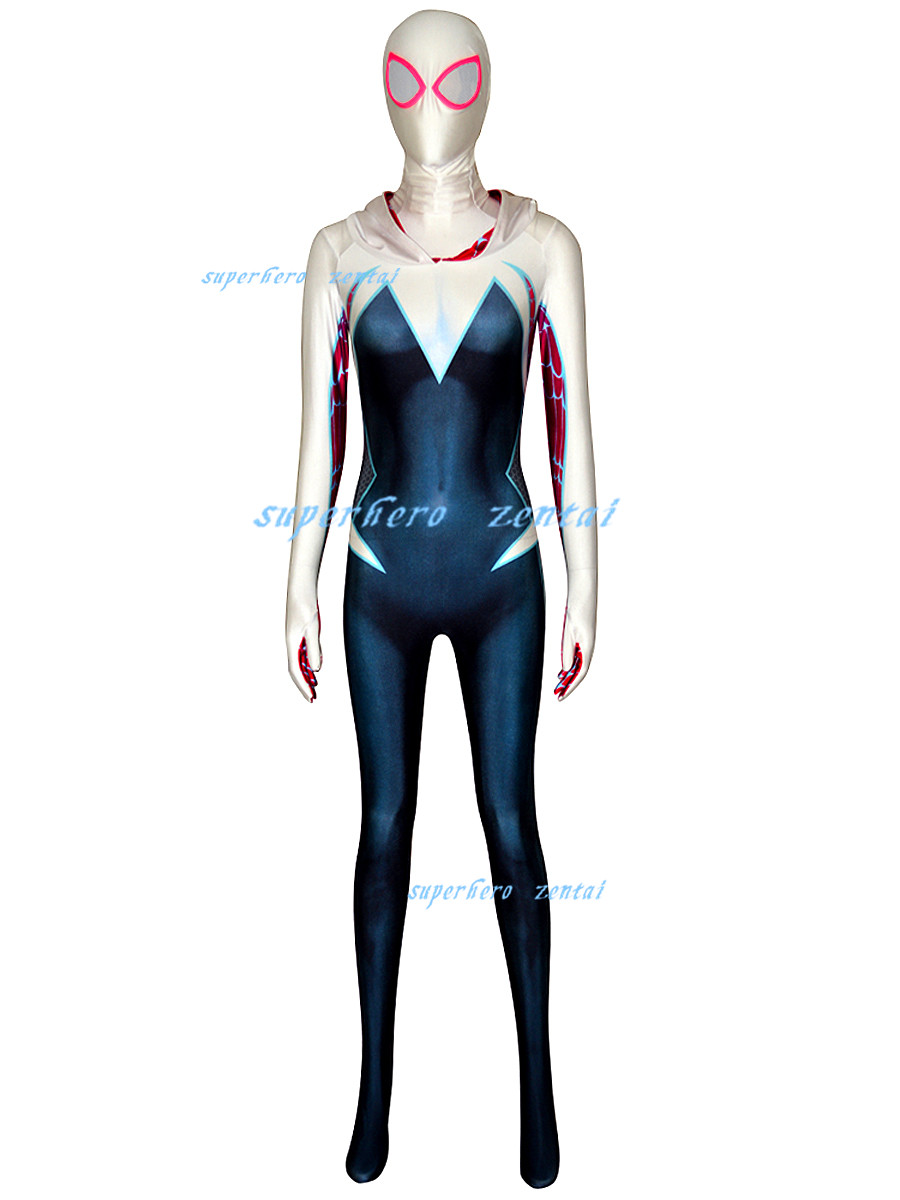 Womens Spider Cosplay Gwen Spiderman Costumes Full Bodysuit Stacy Fancy Clothes
