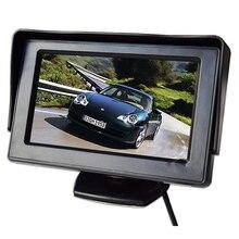 TFT ЖК-дисплей автомобиля Мониторы Защита от солнца Shield 4.3 дюймов Экран для заднего вида Камера DVD Парковочные Системы PAL/NTSC Совместимость красочный дисплей