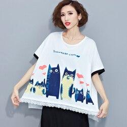 Cotton cartoon font b anime b font printed ethnic purfle women loose cute t shirt plus.jpg 250x250