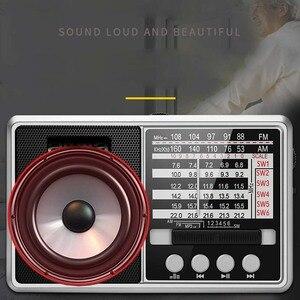 Image 4 - JINSERTA Portable FM/AM/SW Radio Multi Band HI FI Radio Speaker with Flashlight Support TF Card/U Disk Headphone Play