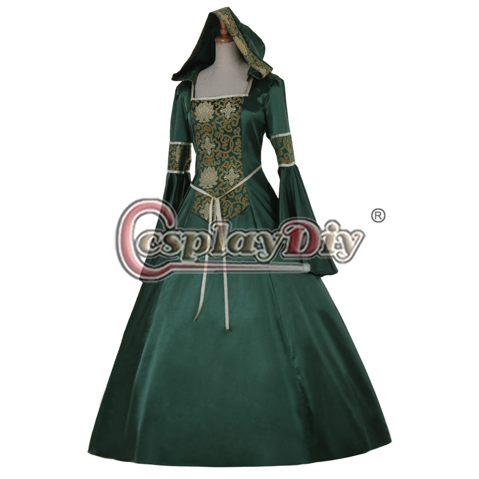 Здесь продается  CosplayDiy Medieval Aristocrat Ball Gown Victorian Dress Costume Gothic Evening Green Vampire Dress D0607  Одежда и аксессуары