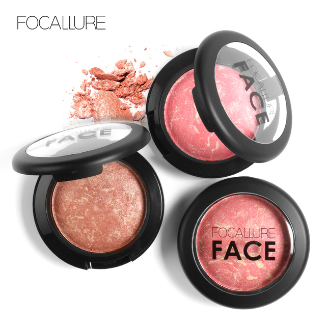 Top Quality Professional Cheek 6 Colors Makeup Baked Blush Bronzer Blusher With Brush by Focallure